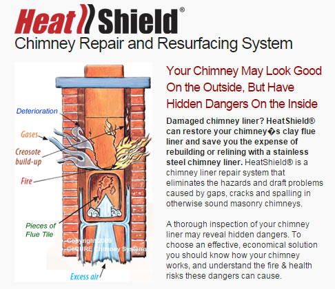 cecure heatshield chimney repair and resurfacing system