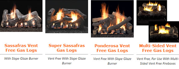 Vent Free Gas Fireplace Log Set